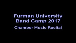 Woodwind Quintet Chamber Music Recital at Furman University Band Camp 2017